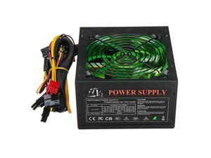 500W PC Power Supply Computer 24 Pin PCI ATX SATA 120mm Silent LED Cooling 110-220V