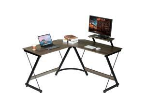 """51.2"""" L-Shaped Desk Computer Corner Home Gaming Office Writing Study Table Workstation"""