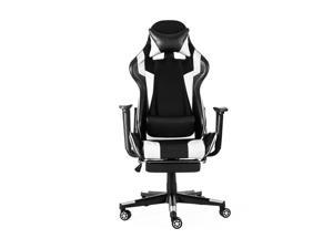 Extra Large Executive Office Gaming Chair Ergonomic 180° Lying Recliner Footrest High Back for Adults