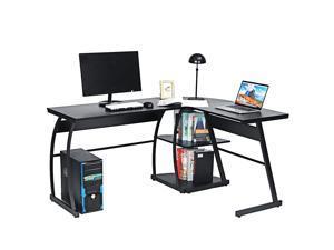 "73"" L-Shape Gaming Computer Desk Office Corner Laptop PC Table Workstation Study  with Shelves"