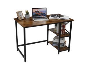 Modern Office Desk Computer Table With Storage Shelves Laptop Home Workstation