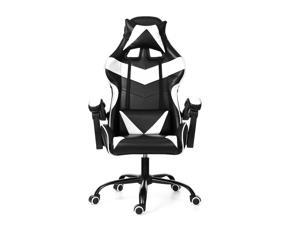 Executive Office Chair Racing Gaming Chair Leather Computer Recliner Swivel Lift