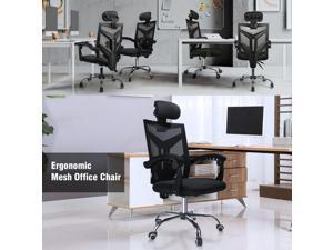 Ergonomic Office Chair High Back Swivel Mesh Chair Computer Desk Task Adjustable