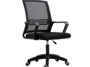 Office Chair Ergonomic Computer Task Chair Mesh Back Swivel Seat Adjustable Lumbar Support Executive Chair with Flip up Armrests