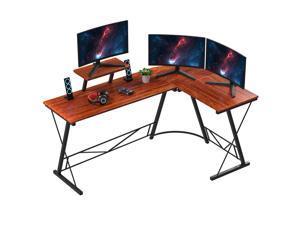 """73"""" L-Shaped Home Office Desk Corner Computer Workstation Desk Gaming Laptop Table"""