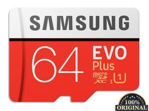 New 100% Original Samsung Flash Memory Card EVO PLUS 64GB Reading Speed 100M/s Write Speed 20MB/s  Micro SD Card Class 10 U3 UHS-I TF Card With Adapter