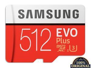 New 100% Original Samsung Flash Memory Card EVO PLUS 512GB Reading Speed 100M/s Write Speed 90MB/s  Micro SD Card Class 10 U3 UHS-I TF Card With Adapter