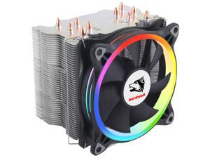 Aardwolf APF-10XPFM-120 ARGB CPU Cooler, AMD Intel CPU Fan compatibly, 5 CDC Heatpipes, for Intel LGA 1151, 1200, AMD Ryzen AM4