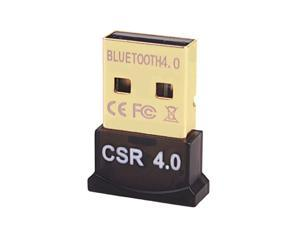 ALAMENGDA Nano Wireless Bluetooth CSR 4.0 Dongle Adapter Bluetooth V4.0 USB Adapter CSR Chip Dongle Stick EDR USB 2.0 Dual-Mode Support Bluetooth Voice data/Music/Printer for laptop/Pad