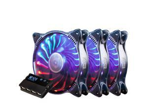 ALAMENGDA PcCooler Starry Sky Addressable RGB 3 in 1 Square Frame Fan, Individually Customizable LEDS, Air Balance Curve Blade Design, Sealed Bearing, PWM Control for Computer Case & Liquid Radiator