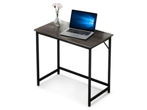 Ivinta Small Computer Desk, Modern Writing Desk for Living Room, Home Office Workstation, 31 inch Laptop PC Table for Small Space, Study Desk with Black Metal Frame