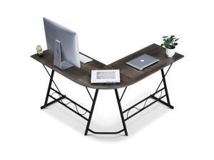 Ivinta L-Shaped Computer Corner Desk, 49.6 inch Gray Home Office Desk, Modern Gaming Desk, Writing Table Workstation Desk for Small Space