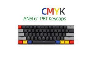 61 Key Layout OEM Profile PBT Thick Keycaps for 60% Mechanical Keyboard for RK61,GANSS ALT61,IKBC poker,Annie PRO,GH60,iqunix f60-Light Through Version