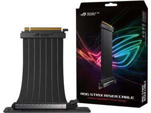 ASUS RS200 ROG Strix Riser Cable with 240 mm PCI-E x16, 90 Degree Adapter, Unique SafeSlot Design, EMI Shielding (RS200)