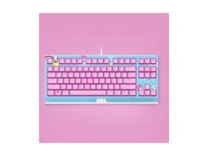 Razer HelloKitty I SANRIO Pink Wired Keyboard Exclusive 87 Key Backlit Mechanical Keyboard