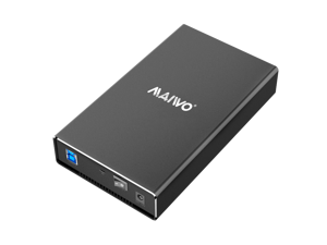 """MAIWO 3.5"""" USB to SATA 6Gbps HDD Enclosure with Aluminum alloy case to speed 5Gbps"""