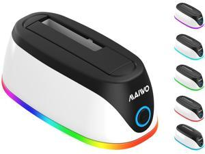 """MAIWO RGB gaming design 2.5""""/3.5"""" HDD docking station ,super speed to 5Gbps,support HDD to 16TB"""