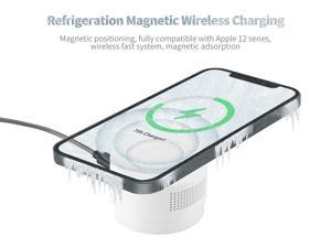 Refrigeration Magnetic Wireless Charging, Charger Pad For IPhone 12 Pro Max 12 Mini Fast Charging For IPhone 12 Huawei Xiaomi 15W Quick Wireless Charger