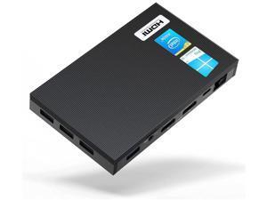 Fanless Quieter2Q Mini PC 8G Memory 256G eMMC Windows 10 Pro Intel Celeron J4125 HDMI Dual 4K Display Portable Desktop Computer 2.4G 5G Dual-band WiFi Bluetooth 4.2
