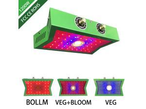 LED Grow Light, COB LED Plant Growing Lamp with Adjustable Veg and Bloom Switch Full Spectrum Growing Lamps Double Chips for Professional Greenhouse Hydroponic Indoor Plants (1200W)