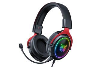 ONIKUMA PS4 Xbox One Game Headset, Sound Insulation Headset, Game Headset With RVB Light, 7.1 Surround Sound, Transparent microphone for ps5, PS4, Xbox one, PC and MAC