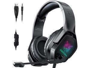 ONIKUMA PS4, PS5 Earphone, Surround Sound Earphone With  LEG Light, For Games Earphone Of PS4, PS5, Xbox One, PC, Nintendo And Laptop