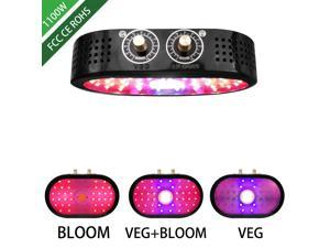 COB LED Grow Light for Indoor Plants, Lune 1100W Full Spectrum LED Plant Lamp Growing Light with Veg and Bloom Adjustable Knobs Super Brightness Lamp for Garden Seeding Flowering Fruiting
