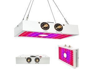 LED Grow Light - 1200W Sunlike Full Spectrum Growing Lights for Indoor Plants with COB Integration Dual-chip 10 Watt LEDs Lamp Adjustable Veg & Bloom Switch White