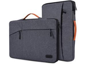 13.3 Inch Water Resistant Laptop Briefcase Sleeve for Surface Laptop 4 2021, Surface Book 13.5, Dell Inspiron 13 5000 7000, LG Gram 13.3, ZenBook, 13-13.5 Inch Protective Notebook Bag, Space Grey