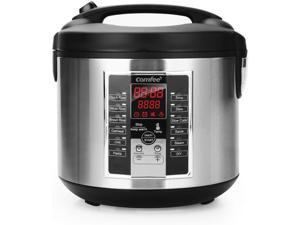 Rice Cooker, Slow Cooker, Steamer, Stewpot, Saute All in One (12 Digital Cooking Programs) Multi Cooker (5.2Qt ) Large Capacity, 24 Hours Preset & Instant Keep Warm