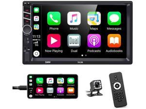 Double Din Car Stereo in-Dash Car Radio with Bluetooth 7 Inch HD Touchscreen Auto Radio Support D-Play Mirror Link for Android iOS Phone FM/USB/TF/Aux-in/RCA/with Backup Camera+ Remote Control