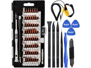 70 in 1 Precision Screwdriver Set Professional Electronics Repair Tool Kit with 56 Bits Magnetic Driver Kit, Anti Static Wrist Band, Spudgers for Tablet, MacBook, PC, iPhone, Xbox, Game Console