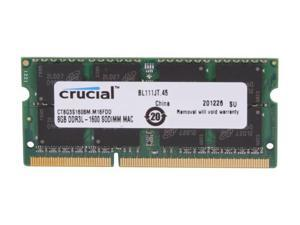Crucial Laptop Memory Mac CT8G3S160BM 8GB 2RX8 DDR3L 1600Mhz(PC3 12800) 204-Pin 1.35V SODIMM RAM For HP Pavilion 23-q171d TouchSmart All-in-One