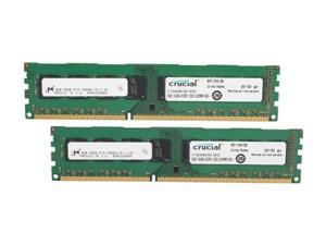 Crucial 16GB (2 x 8GB) 240-Pin DDR3 SDRAM DDR3 1333 (PC3 10600) Major Brand Chipset Desktop Memory Model CT2KIT102464BA1339