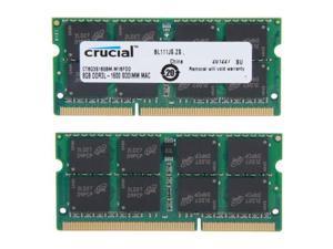 Crucial Laptop Memory Mac CT8G3S160BM 16GB(2 x 8GB) 2RX8 DDR3L 1600Mhz(PC3 12800) 204-Pin 1.35V SODIMM RAM For HP ProBook 645 G1