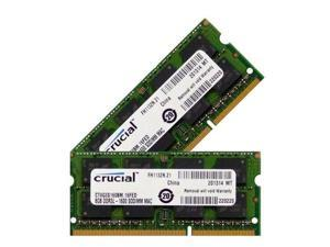 Crucial 16GB 2 X 8GB DDR3 PC3-12800 SODIMM PC12800 1600 LAPTOP NOTEBOOK MEMORY RAM (Crucial CT8G3S160BM Equivalent)