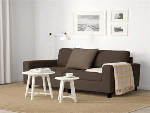 54'' Small Loveseat Sofa Couch for Living Room, Small Modern Couch with Linen Fabric, Love Seats 2-seat Sofa Couch Space Saving for Small Space,Upstairs loft,Small Apartment,Dorm (Brown)