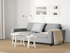 54'' Small Loveseat Sofa Couch for Living Room, Small Modern Couch with Linen Fabric, Love Seats 2-seat Sofa Couch Space Saving for Small Space,Upstairs loft,Small Apartment,Dorm (Light Grey)