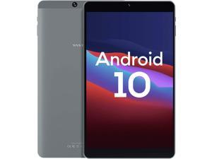 Android 10, 8-inch Android Tablet, Vastking Kingpad SA8 Octa-Core Processor, 3GB RAM, 32GB Storage, 1920x1200 IPS, 5G Wi-Fi, GPS, 13MP Camera, Blue Light Filter Screen, Silver Grey