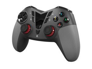 2.4G Wireless PC Game Controller USB Gaming Gamepad Joystick For Computer & Laptop & Notebook (Windows 10/8/7/XP, Steam,Switch), Android and PS3 - Black