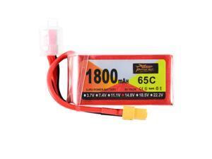 Hot ZOP Power 14.8V 65C 1800mAh 4S Lipo Battery XT60 Plug For RC Quadcopter Car Airplane Aircraft