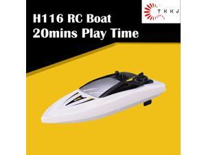 TKKJ H116 1:47 2.4G 3CH 50M Long Control Distance Mini RC Boat RTR Speed 20mins Play Time Children's Water Toys Yellow
