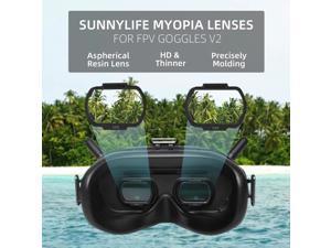 Aspheric Myopia Lens Vision Correction Resin Lens for DJI FPV Glasses V2 Anti-scratch Len Protector Drone Accessories