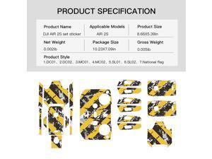 Sticker For DJI MAVIC Air 2S Drone Body/Battery/Drone Arm/Remote Control PVC Protective Stickers Accessories