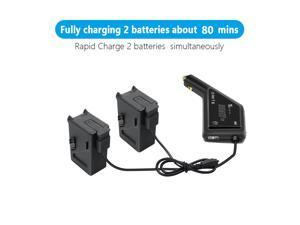 Dual Battery Smart Car Charger for DJI FPV with USB Port DJI FPV Remote Controller 2 Fast Car Charging Drone Outdoor Accessories