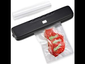 Vacuum Sealer Machine, Food Sealer, Automatic Dry & Wet Food Sealers Vacuum Packing Machine with Suction Hose and 15 Vacuum Bags Included