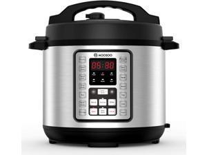 Pressure Cooker, MOOSOO 70% Quicker Instant Pressure Pot 14-in-1, Stainless Steel Electric Rice Cooker, Slow Cooker, Steamer, Saute, Yogurt Maker,Egg Cook, Sterilizer,Warmer, 6 Quart, Recipes Included