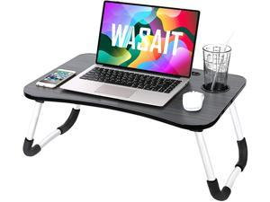 Folding Lap Desk for Laptop Bed Tray Table for Eating , Foldable Bed Table Laptop Stand for Bed,  Portable Laptop Workstation Desk Bed Tray with Antislip Legs, for Kids Couch Writing Reading, Black3
