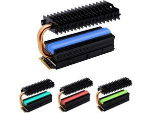 M.2 Heatsink with Heatpipe, 12V RGB SATA NVMe NGFF M.2 Heatsink SSD Cooler for 2280 M.2 SSD, with Thermal Pad (SSD Not Included)