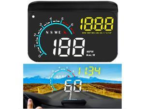 Head up Display,Upgrade Universal Car HUD Dual Mode OBD2/GPS Windshield Projector with Speed,OverSpeed Alarm, KMH/MPH,Mileage Measurement,for All Vehicles